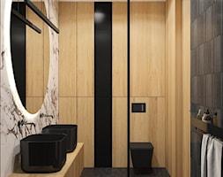 Ciemna+%C5%82azienka+z+drewnem+-+zdj%C4%99cie+od+MACZ+Architektura