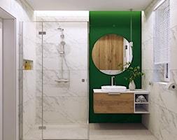 Łazienka z zielonym akcentem - zdjęcie od MACZ Architektura - Homebook