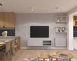 Szary salon - zdjęcie od MACZ Architektura - Homebook
