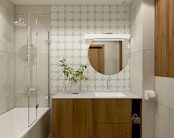 Łazienka w ciepłych kolorach - zdjęcie od MACZ Architektura - Homebook
