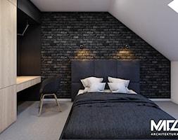 Sypialnia z łazienką na poddaszu - zdjęcie od MACZ Architektura