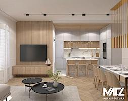 Kuchnia+otwarta+na+salon+-+zdj%C4%99cie+od+MACZ+Architektura