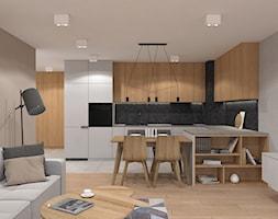 Kuchnia z szarymi meblami - zdjęcie od MACZ Architektura - Homebook