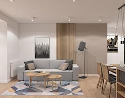 Salon z lamelami - zdjęcie od MACZ Architektura - Homebook
