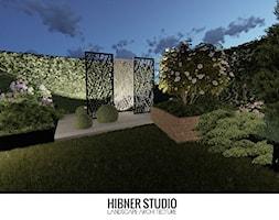 Projekt ogrodu przy nowoczesnej Stodole - Średni ogród za domem, styl nowoczesny - zdjęcie od Hibner Studio Pracownia Architektury Krajobrazu