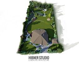 Ogród pozamiejski, wielkoprzestrzenny - Duży ogród za domem, styl klasyczny - zdjęcie od Hibner Studio Pracownia Architektury Krajobrazu