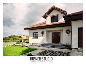 Ogród geometryczny, Płock - Duży ogród przed domem, styl nowoczesny - zdjęcie od Hibner Studio Pracownia Architektury Krajobrazu