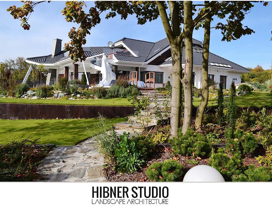 Ogród rezydencjonalny, Płock - Duży ogród za domem, styl klasyczny - zdjęcie od Hibner Studio Pracownia Architektury Krajobrazu