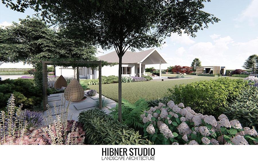 Ogród przy nowoczesnej rezydencji, Ciechocinek - Ogród, styl nowoczesny - zdjęcie od Hibner Studio Pracownia Architektury Krajobrazu