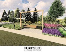 Ogród nowoczesny na mazurach - Duży ogród z huśtawką, styl nowoczesny - zdjęcie od Hibner Studio Pracownia Architektury Krajobrazu