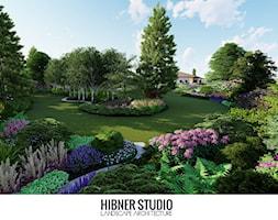 Ogród pozamiejski, wielkoprzestrzenny - Ogród, styl tradycyjny - zdjęcie od Hibner Studio Pracownia Architektury Krajobrazu