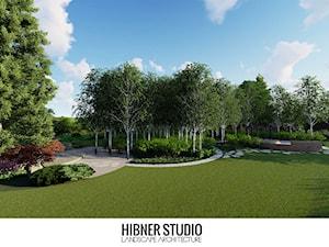 Ogród pozamiejski, wielkoprzestrzenny - Duży ogród za domem, styl tradycyjny - zdjęcie od Hibner Studio Pracownia Architektury Krajobrazu