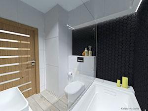 Łazienka dla mężczyzny - Mała łazienka w bloku w domu jednorodzinnym bez okna - zdjęcie od Katarzyna Jania