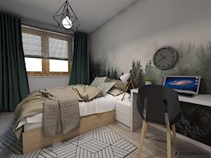 Projekt sypialni - Średnia biała sypialnia małżeńska - zdjęcie od Katarzyna Jania