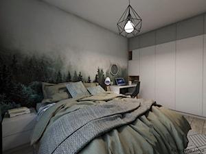 Projekt sypialni - Średnia sypialnia małżeńska - zdjęcie od Katarzyna Jania
