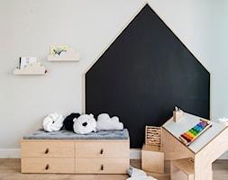 Apartament Wrocław 100m2 - Mały szary czarny pokój dziecka dla chłopca dla dziewczynki dla malucha, ... - zdjęcie od Finchstudio Architektura Wnętrz - Homebook