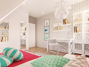 Dom w Holandii - Średni szary pokój dziecka dla dziewczynki dla malucha, styl skandynawski - zdjęcie od Finchstudio Architektura Wnętrz