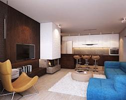 salon połączony z kuchnią - zdjęcie od Finchstudio Architektura Wnętrz