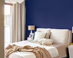 Paleta kolorów - Mała niebieska sypialnia małżeńska, styl nowoczesny - zdjęcie od Finchstudio Architektura Wnętrz - Homebook