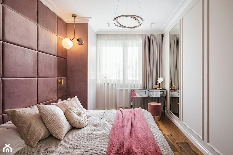 Apartament inspirowany Paryżem - Sypialnia - zdjęcie od Finchstudio Architektura Wnętrz