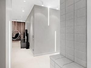 Apartament w Bielawie - Średni szary hol / przedpokój, styl nowoczesny - zdjęcie od Finchstudio Architektura Wnętrz