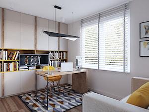 Dom w Brzegu Dolnym - Średnie beżowe biuro domowe kącik do pracy w pokoju, styl nowoczesny - zdjęcie od Finchstudio Architektura Wnętrz