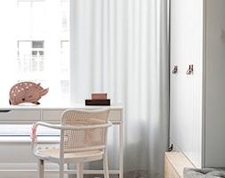 Apartament Wrocław 100m2 - Mały biały pokój dziecka dla dziewczynki dla nastolatka, styl skandynawski - zdjęcie od Finchstudio Architektura Wnętrz