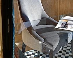 Dom jednorodzinny w Wilanowie - Małe biuro kącik do pracy, styl nowoczesny - zdjęcie od BBHome Design