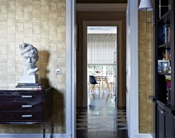 Dom w Wilanowie - Małe szare biuro pracownia, styl nowojorski - zdjęcie od BBHome Design