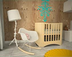 Pokój niemowlaka - Średni pokój dziecka dla chłopca dla dziewczynki dla niemowlaka dla malucha, styl skandynawski - zdjęcie od HolArt Studio