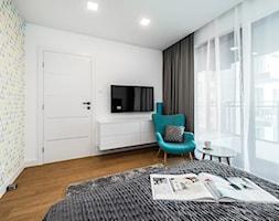 Sesja foto mieszkania na wynajem nr 4_Gdańsk, Wyspa Spichrzów - Sypialnia, styl nowoczesny - zdjęcie od WITTWÓRNIA: Robert Witt - Homebook