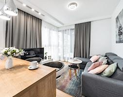 Sesja foto mieszkania na wynajem nr 4_Gdańsk, Wyspa Spichrzów - Salon, styl nowoczesny - zdjęcie od WITTWÓRNIA: Robert Witt - Homebook