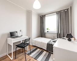Sesja foto mieszkania inwestycyjnego na sprzedaż - Średnia szara sypialnia, styl skandynawski - zdjęcie od WITTWÓRNIA: Robert Witt - Homebook