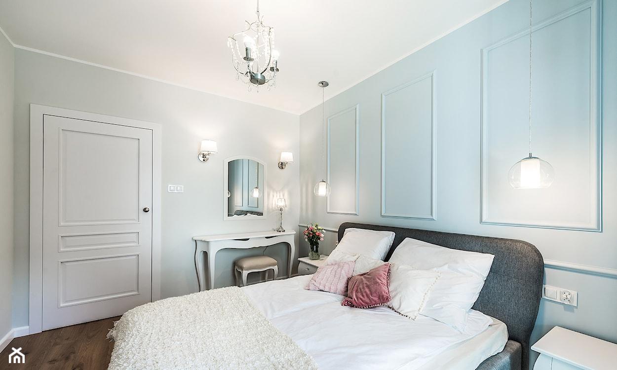 miętowe ściany w sypialni