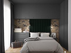Sypialnia z motywem roślinnym