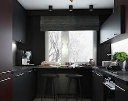 Ciemna kuchnia w Krakowie - zdjęcie od UDOMOWIENI - Homebook