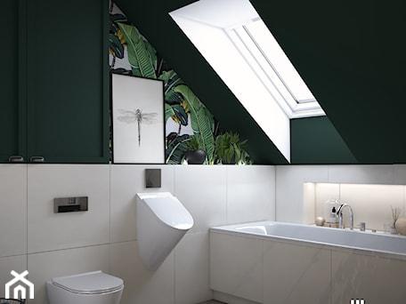 Aranżacje wnętrz - Łazienka: Tropikalna łazienka pod Krakowem - UDOMOWIENI. Przeglądaj, dodawaj i zapisuj najlepsze zdjęcia, pomysły i inspiracje designerskie. W bazie mamy już prawie milion fotografii!