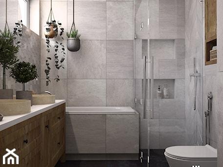 Aranżacje wnętrz - Łazienka: Rustykalna łazienka w Katowicach - UDOMOWIENI. Przeglądaj, dodawaj i zapisuj najlepsze zdjęcia, pomysły i inspiracje designerskie. W bazie mamy już prawie milion fotografii!