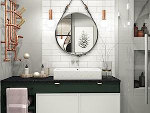 Łazienka z nutką zieleni