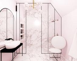 Różowa łazienka - zdjęcie od By Castana Autorska pracownia projektowa