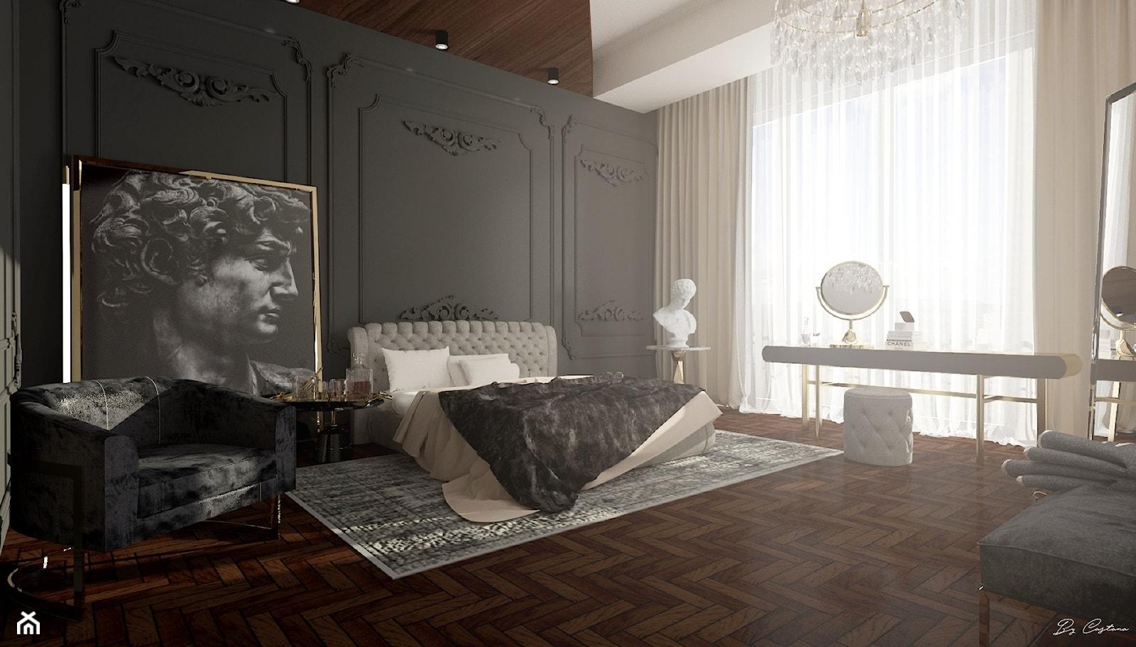 """Bedroom """"Greek Classic""""   35m2   Gdańsk - zdjęcie od By Castana Autorska pracownia projektowa - Homebook"""