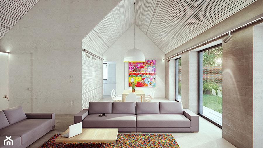 salon z jadalnią - zdjęcie od major architekci