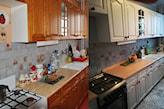przemalowanie mebli w kuchni na biało