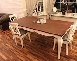 Jadalnia - Średnia otwarta szara jadalnia w salonie, styl prowansalski - zdjęcie od Meble Chwała