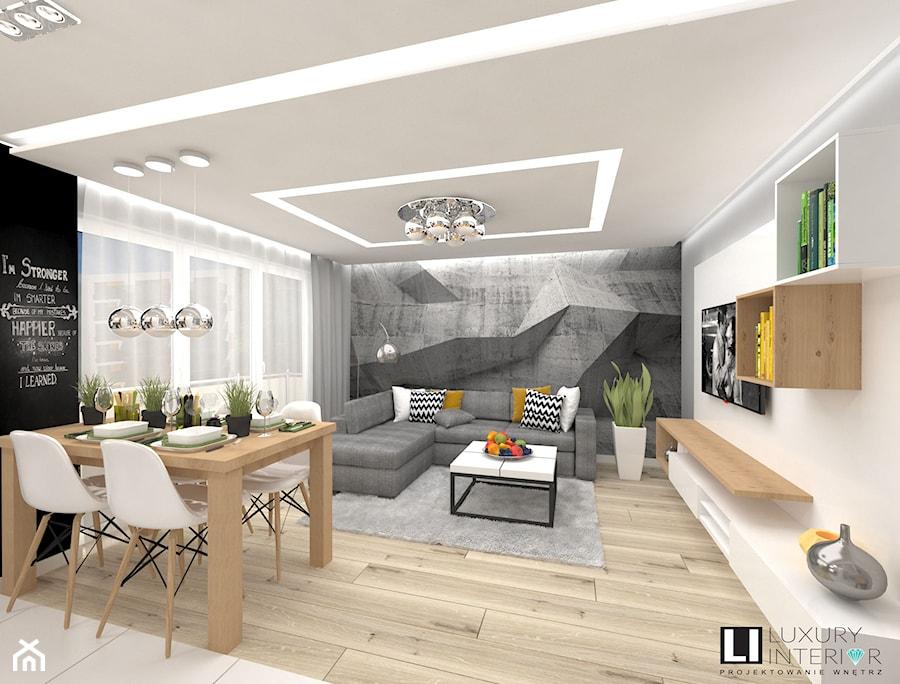Mieszkanie 60 M2 Minsk Mazowiecki Sredni Bialy Czarny Salon Z