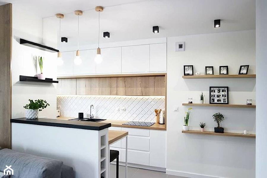 Aranżacje wnętrz - Kuchnia: Przytulna nowoczesność <3 - dobrawixa. Przeglądaj, dodawaj i zapisuj najlepsze zdjęcia, pomysły i inspiracje designerskie. W bazie mamy już prawie milion fotografii!