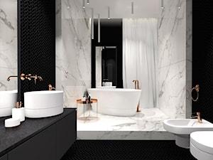 Pokój kąpielowy Black&White - zdjęcie od IN studio