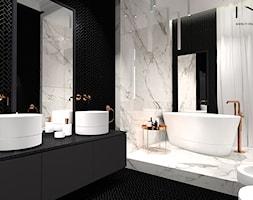 Pokój kąpielowy Black&White - zdjęcie od IN studio - Homebook