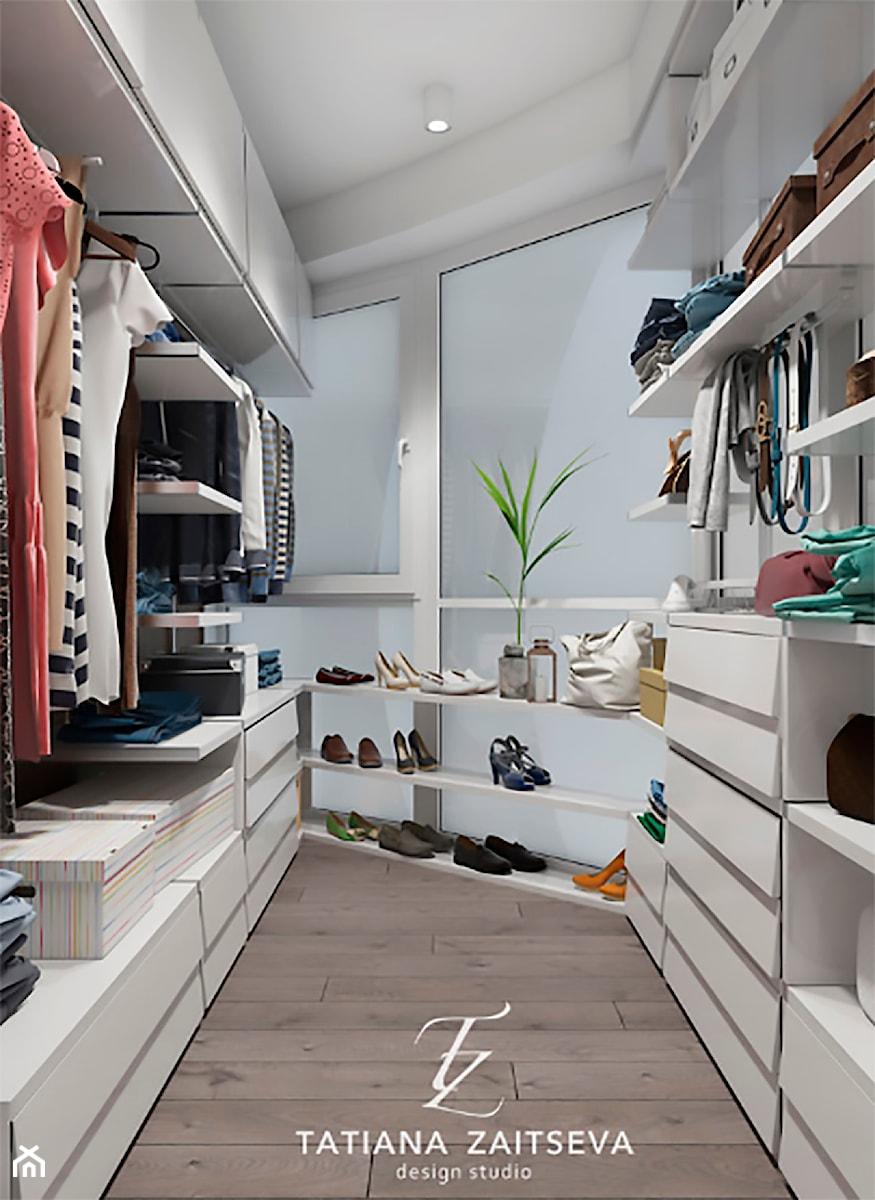 Designe projekt - nowoczesny styl - Mała zamknięta garderoba, styl nowoczesny - zdjęcie od Tz_interior