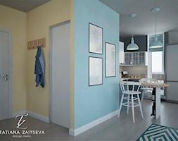 Designe wnętrza - Komfort - Średni niebieski żółty hol / przedpokój, styl nowoczesny - zdjęcie od Tz_interior